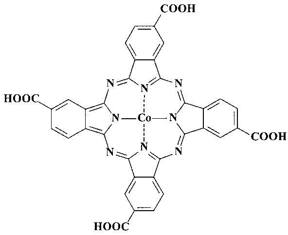Гомогенные катализаторы окисления диэтилдитиокарбамата натрия на основе тетра-4-(4-карбоксифениламино)фталоцианина кобальта(ii), модифицированного нитрогруппами или фрагментами аминобензойной кислоты