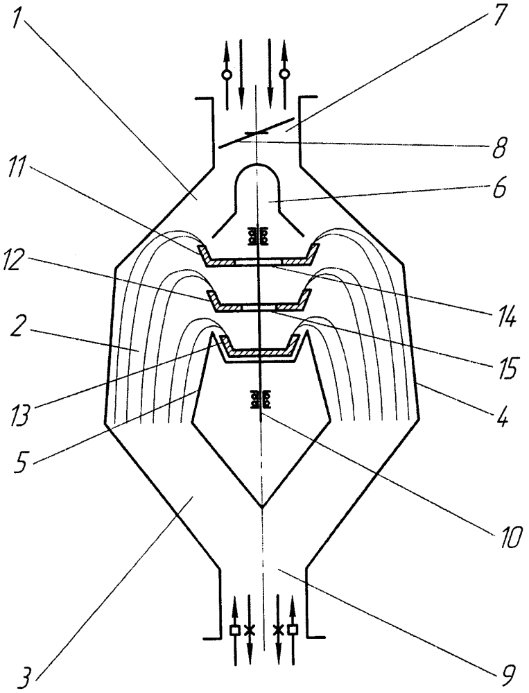 Центробежно-пневматический сепаратор зернового материала