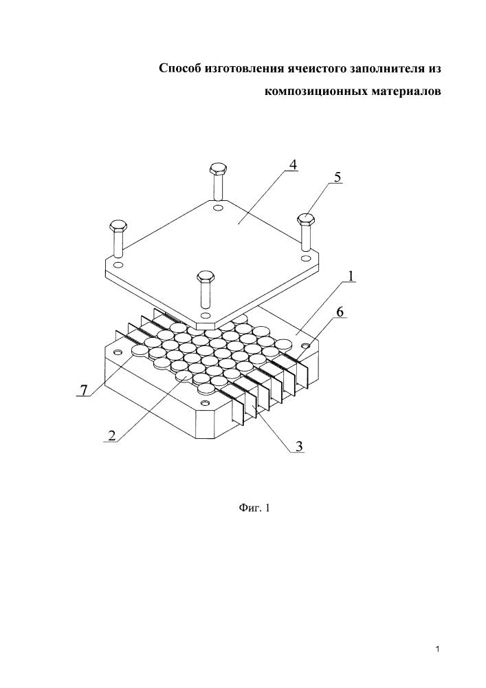 Способ изготовления ячеистого сотового заполнителя из композиционных материалов