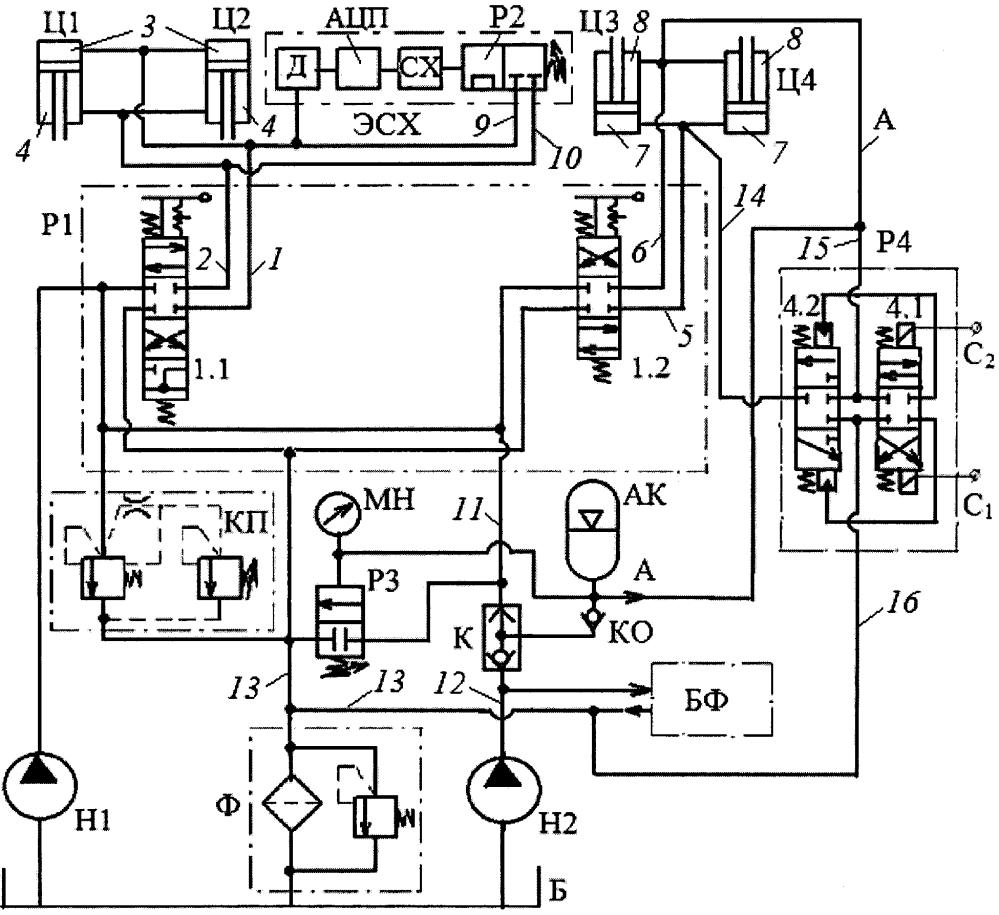 Электронно-гидравлическая система управления отвалом бульдозера