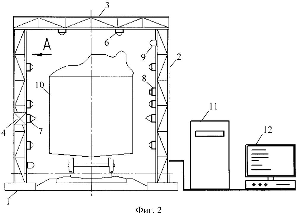 Устройство контроля габаритов грузов и подвижного состава в процессе их движения
