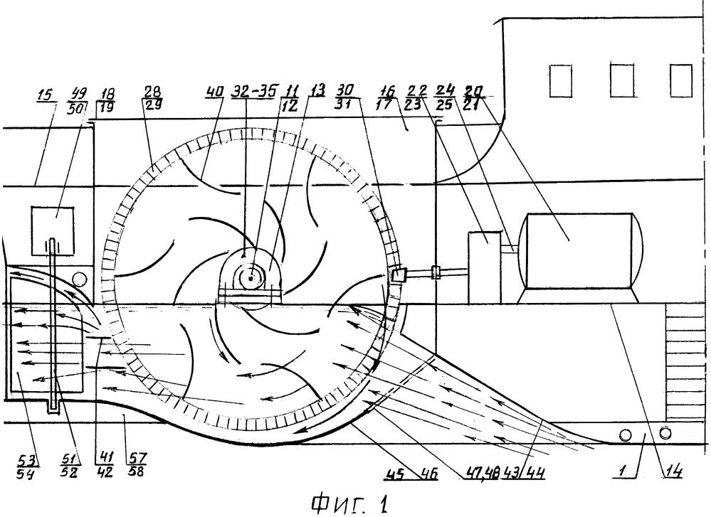 Мелкосидящее судно с лопастными колёсами