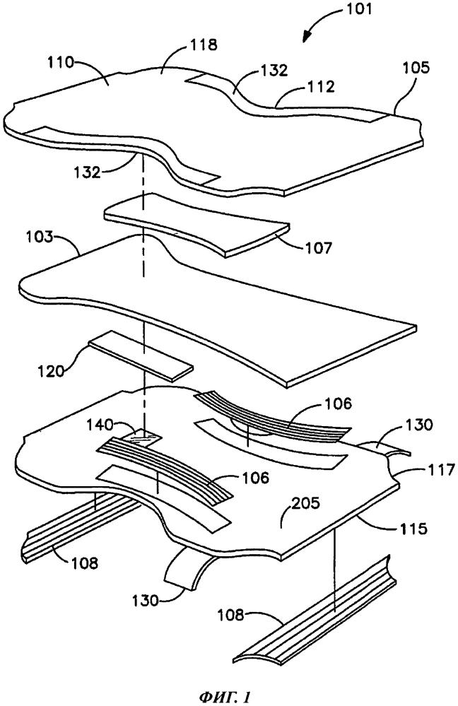 Датчик влажности для применения в абсорбирующем изделии