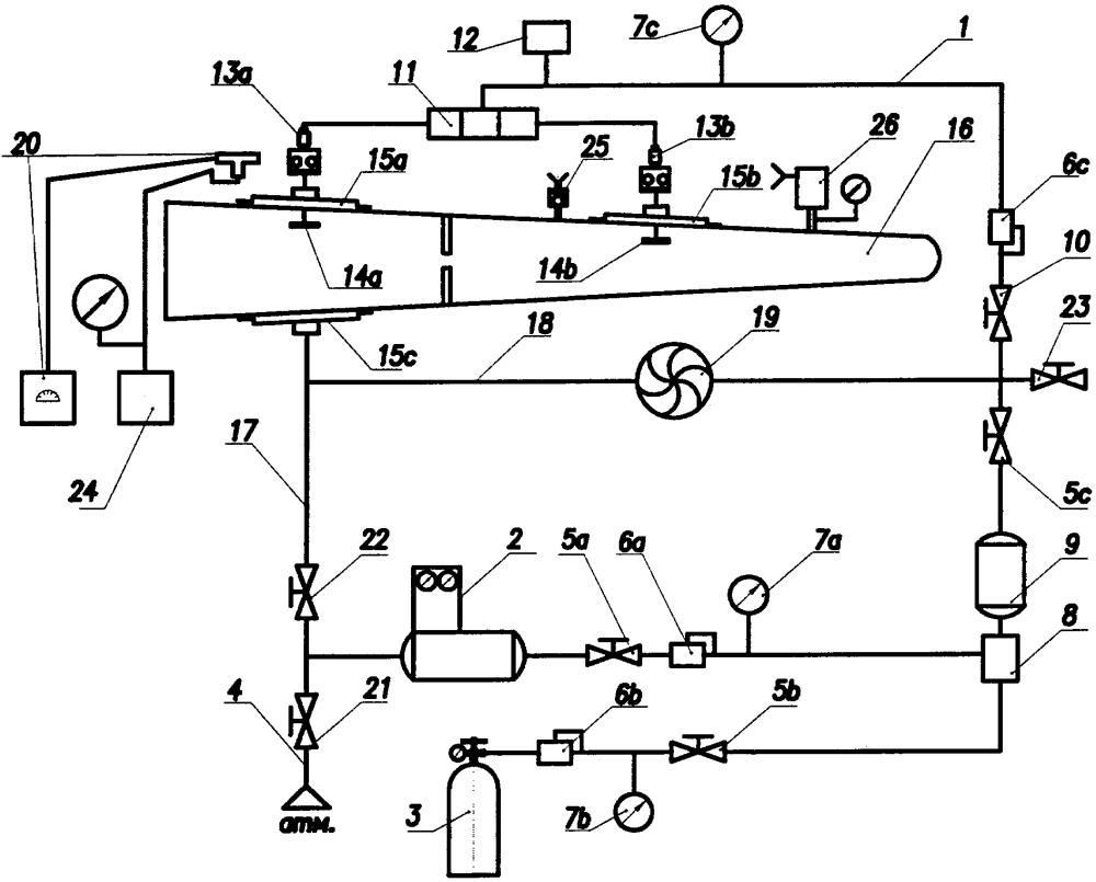 Устройство для контроля герметичности топливного бака самолета