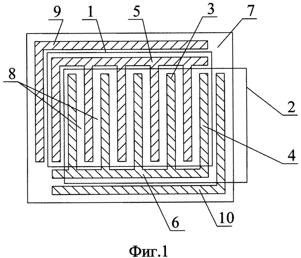 Датчик контроля толщины тонкопленочных диэлектрических материалов