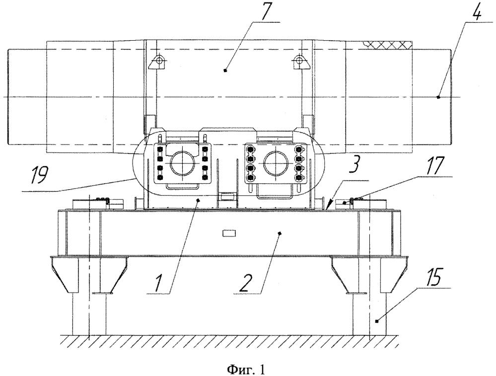 Сейсмостойкая неподвижная опора трубопровода, узел соединения катушки трубопровода с ростверком опоры трубопровода для сейсмостойкой неподвижной опоры трубопровода и продольное демпферное устройство для сейсмостойкой неподвижной опоры трубопровода