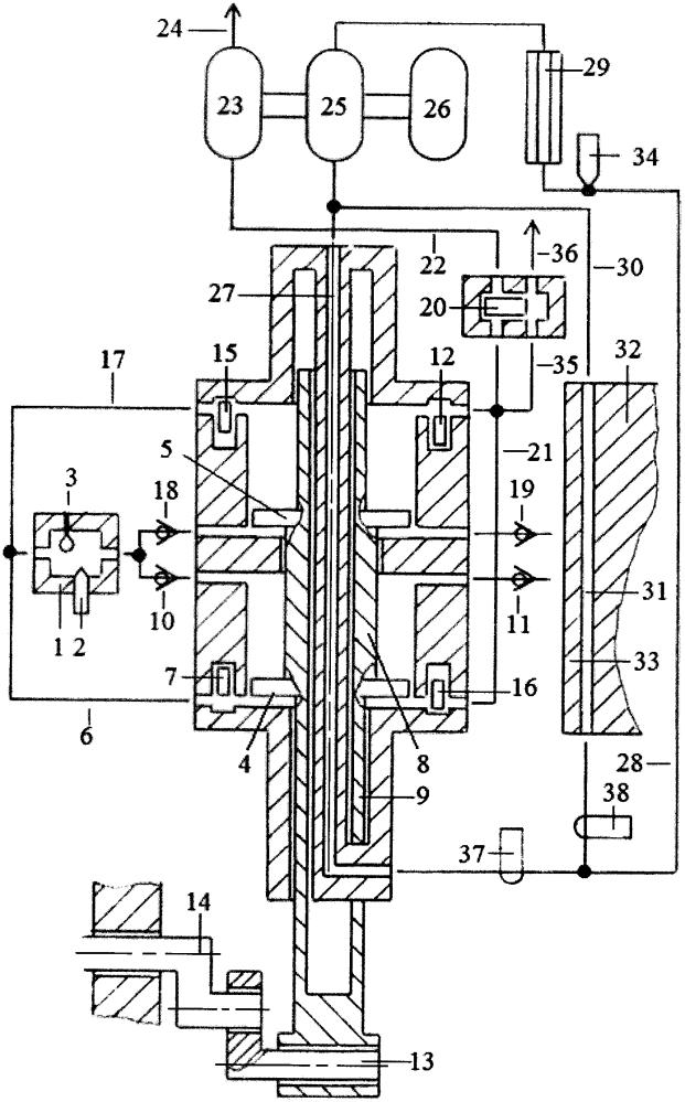 Способ бесконтактного охлаждения поршней, штоков и цилиндра однотактного двигателя с внешней камерой сгорания энергией выхлопных газов