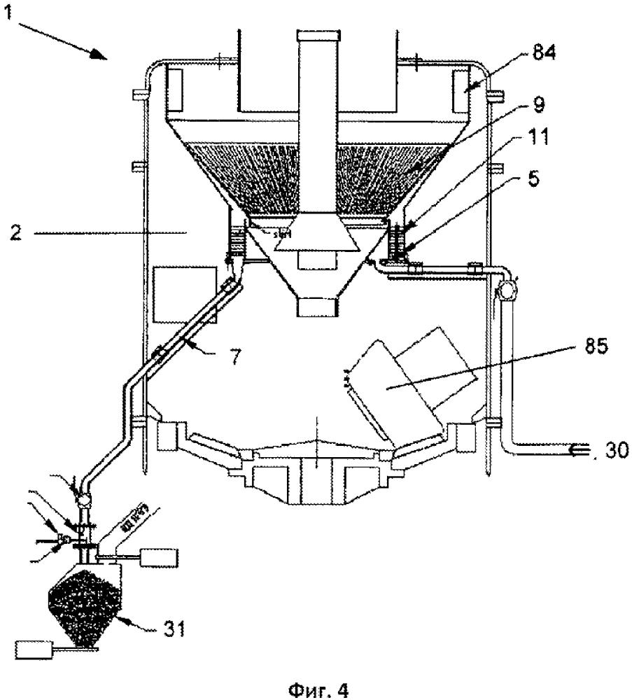 Способ и устройство для разделения материала на основе твердых частиц