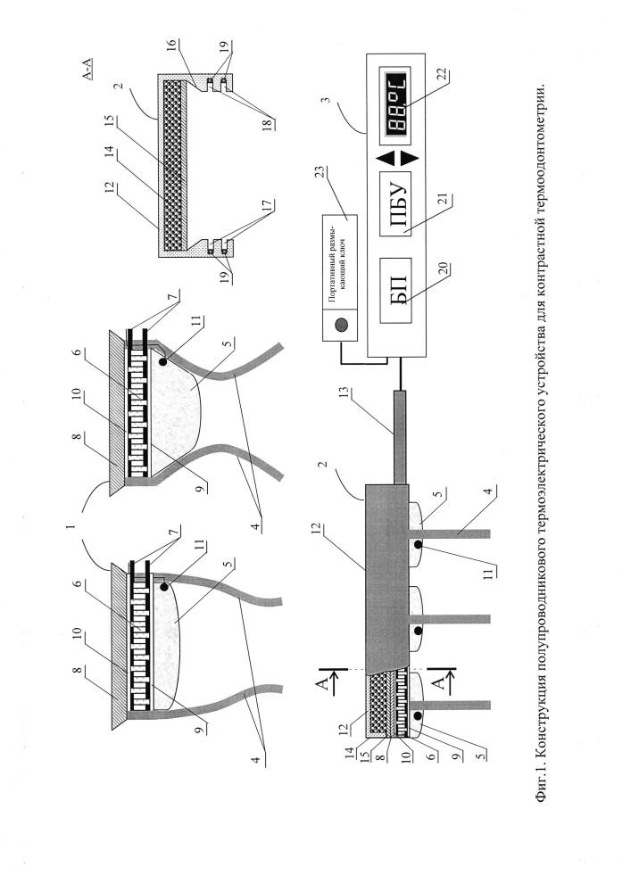 Термоэлектрическое полупроводниковое устройство для контрастной термоодонтометрии