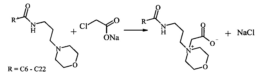 Способ получения бетаинов морфолин-4-илпропиламидов жирных кислот растительных масел