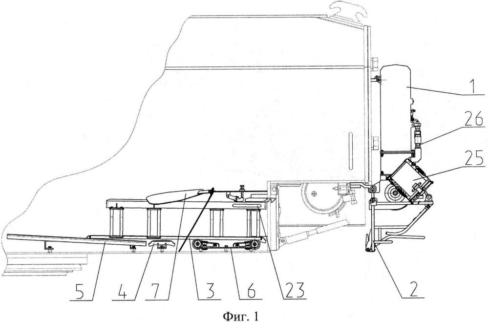 Механизм подачи зарядов с грунта самоходного артиллерийского орудия (сао)