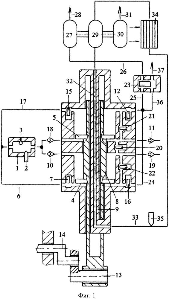 Способ бесконтактного охлаждения поршней и штоков однотактного двигателя с внешней камерой сгорания энергией выхлопных газов
