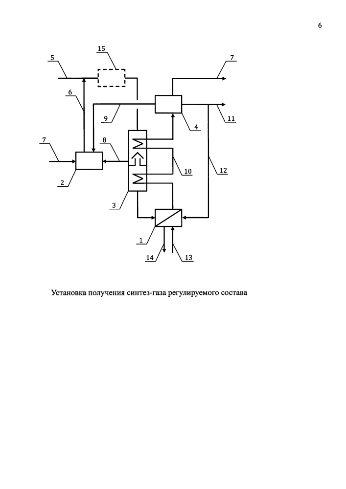 Установка получения синтез-газа регулируемого состава