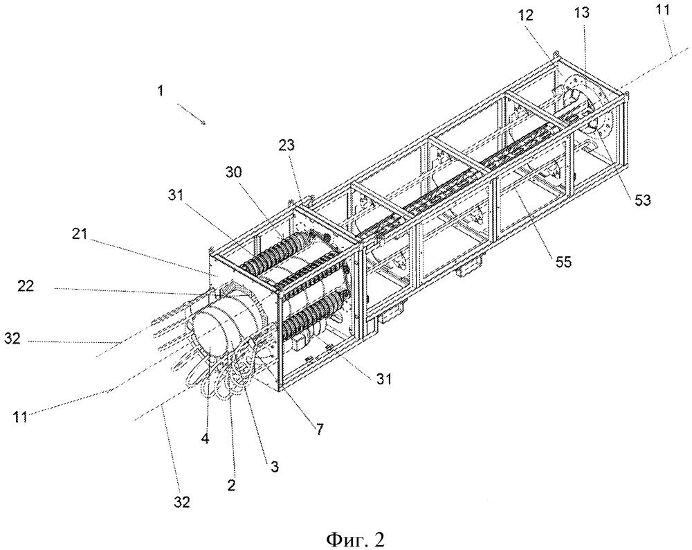 Устройство для подвода и отвода воздушных рукавов