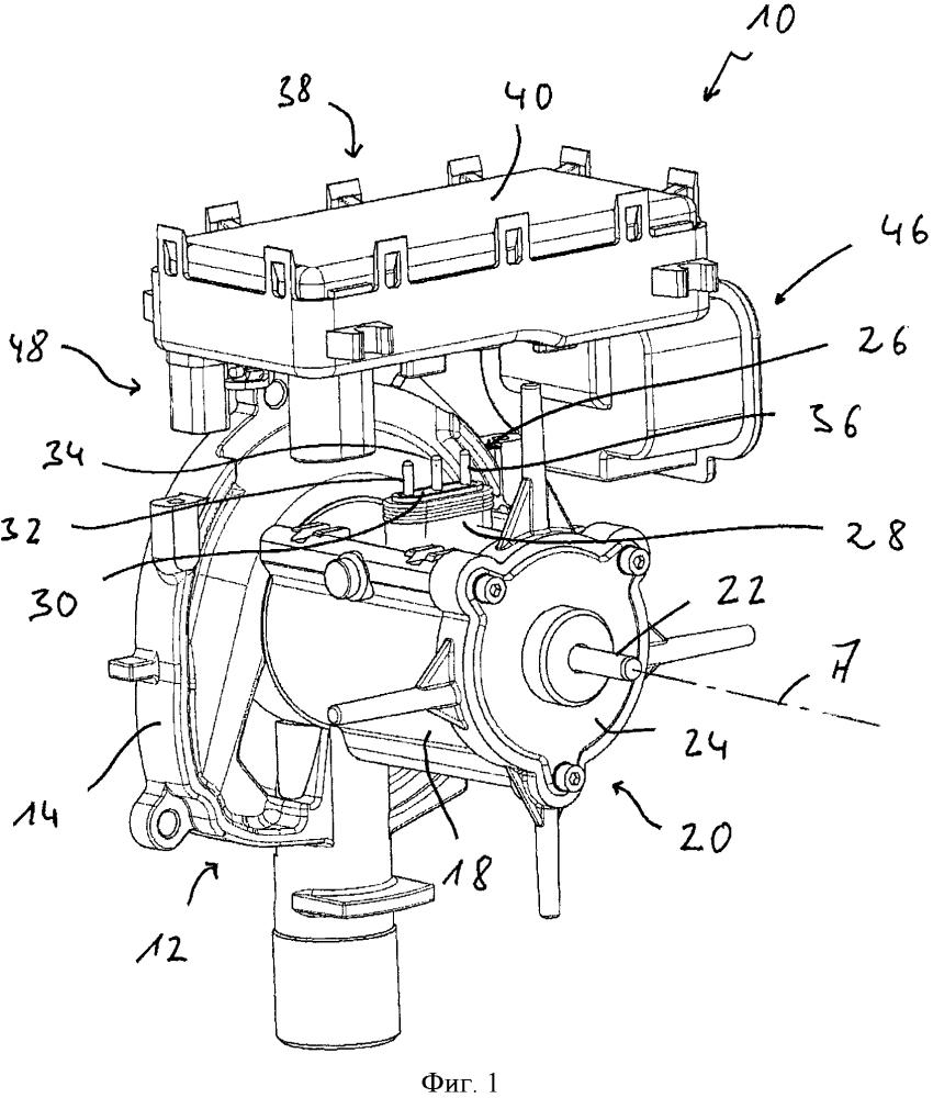 Корпус воздуходувки, в частности воздуходувки воздуха для горения для предпускового подогревателя транспортного средства