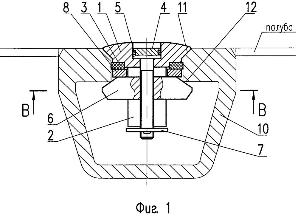 Заглушка для вварного гнезда палубы судна
