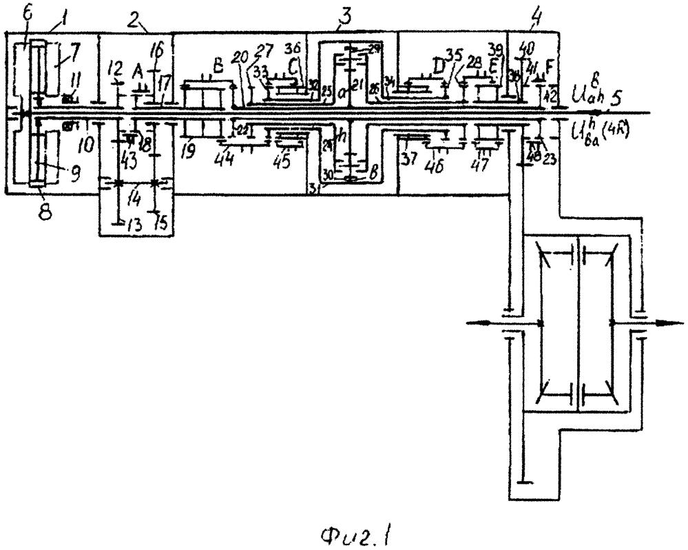 Соосная многоступенчатая коробка передач 10r4
