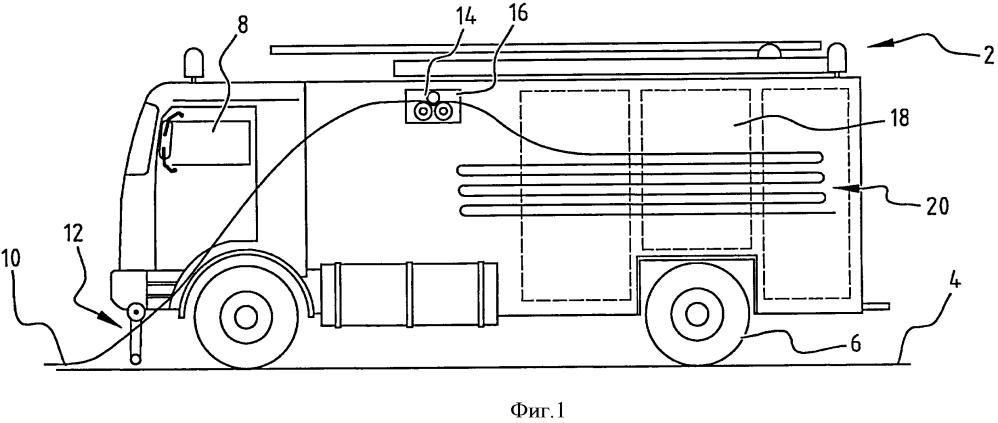 Устройство для уборки шланга, автомобиль и способ уборки