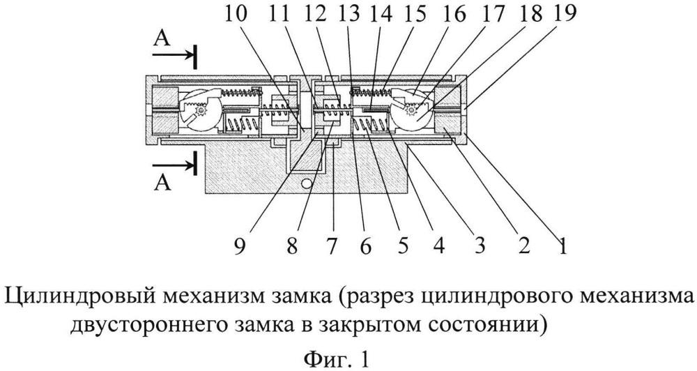 Цилиндровый механизм замка и ключ