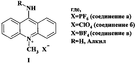 Способ получения соли 9-амино-10-метилакридиния