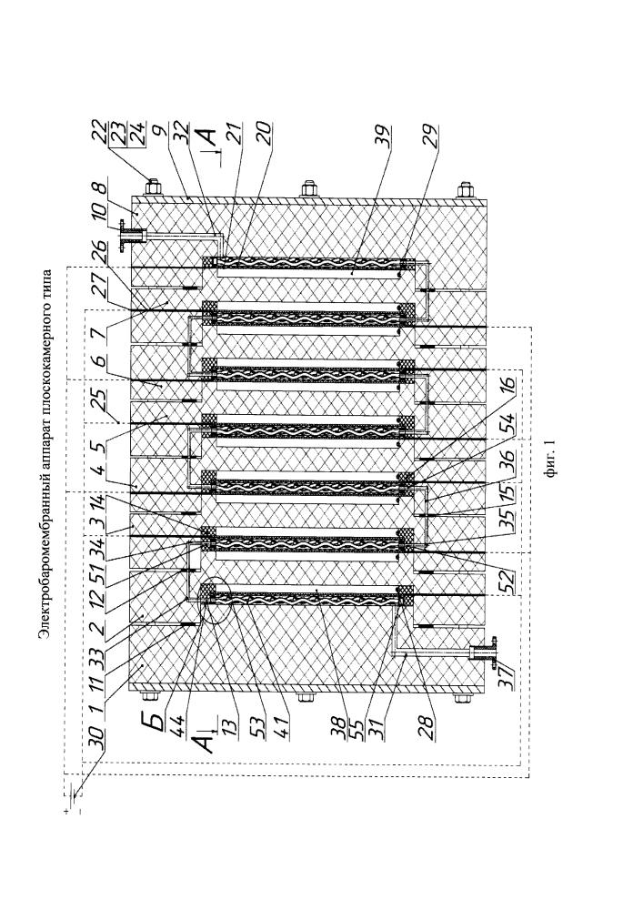 Электробаромембранный аппарат плоскокамерного типа