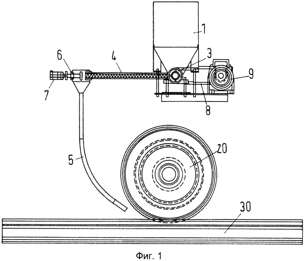 Установка для разгрузки рассыпаемого материала для транспортных средств, прежде всего рельсовых транспортных средств, и способ разгрузки рассыпаемого материала