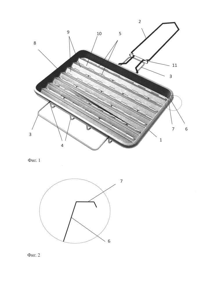 Способ приготовления продуктов при жарке на углях в жарочном оборудовании и устройство для его осуществления