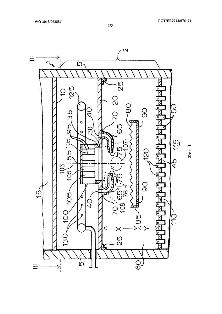 Распределительное устройство для многослойного реактора с нисходящим потоком