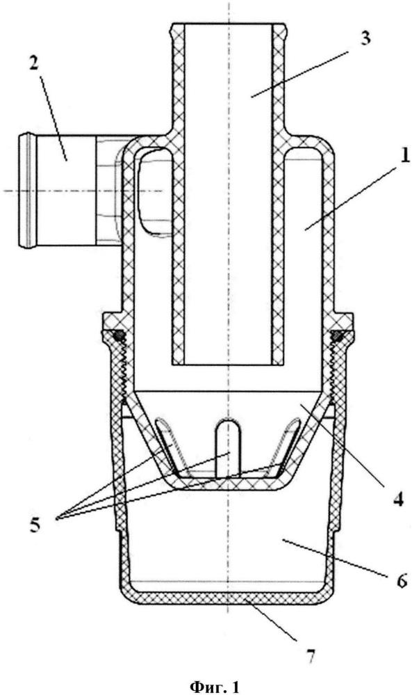 Гидроциклонное устройство для очистки от твердых частиц загрязнений охлаждающей жидкости поршневых двигателей