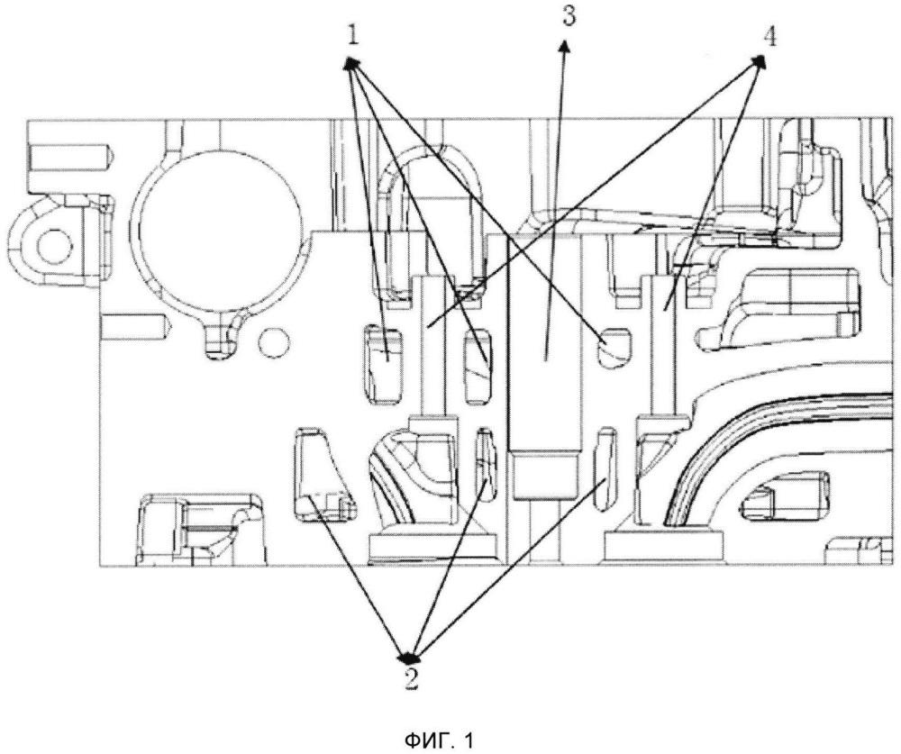 Система водяного охлаждения головки блока цилиндров двигателя