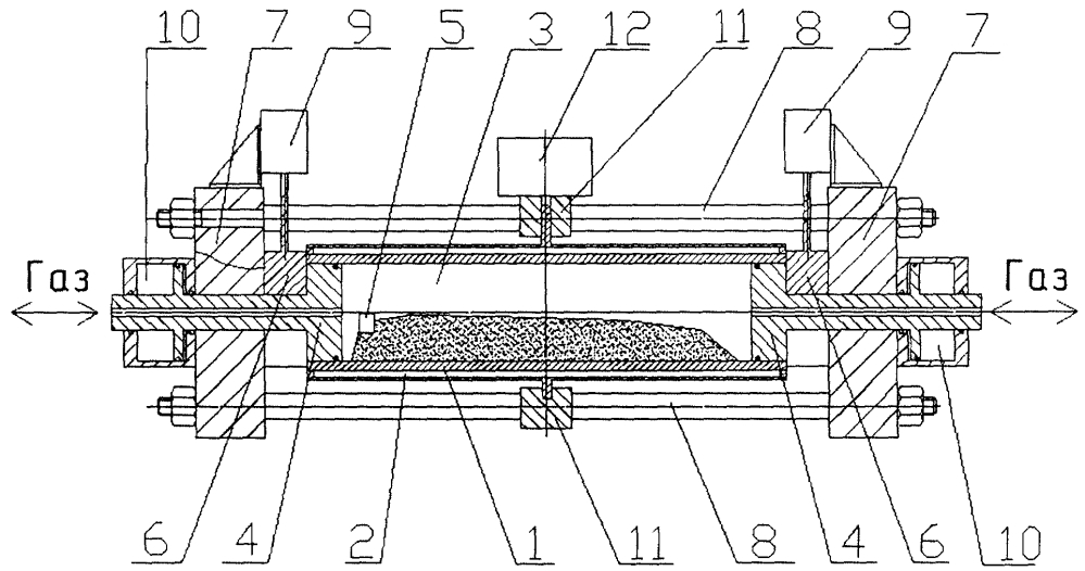 Реактор для получения самораспространяющимся высокотемпературным синтезом тугоплавких неорганических соединений