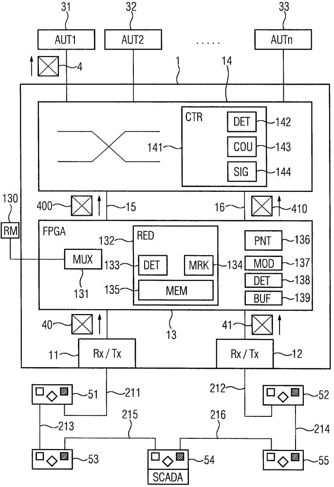 Устройство связи для эксплуатируемой с избыточностью промышленной сети связи и способ эксплуатации устройства связи