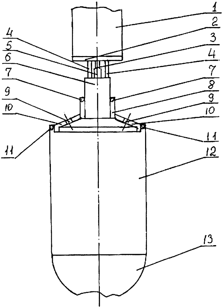 Ракетный двигатель малой тяги на газообразных водороде и кислороде с центробежной и струйными форсунками