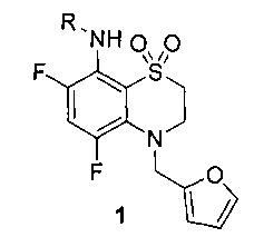 Фторированные 4-фурфурил-3,4-дигидро-2н-бензо[1,4]тиазин-1,1-диоксиды, обладающие высокой аритмической активностью