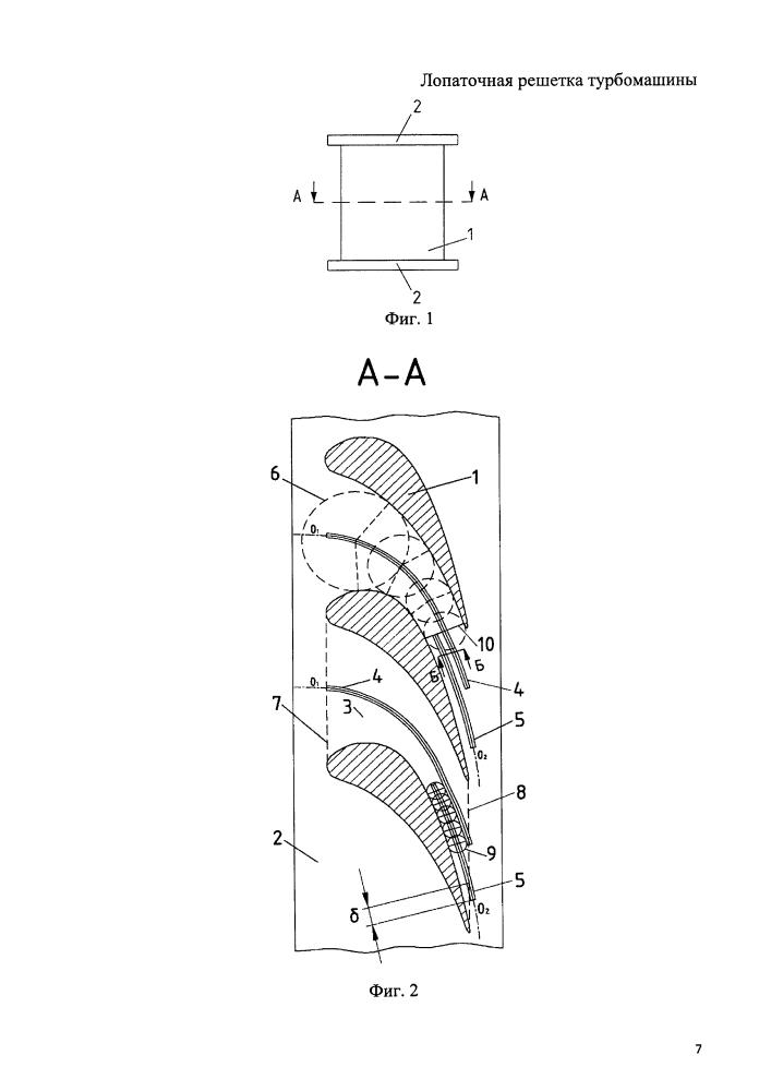 Лопаточная решетка турбомашины