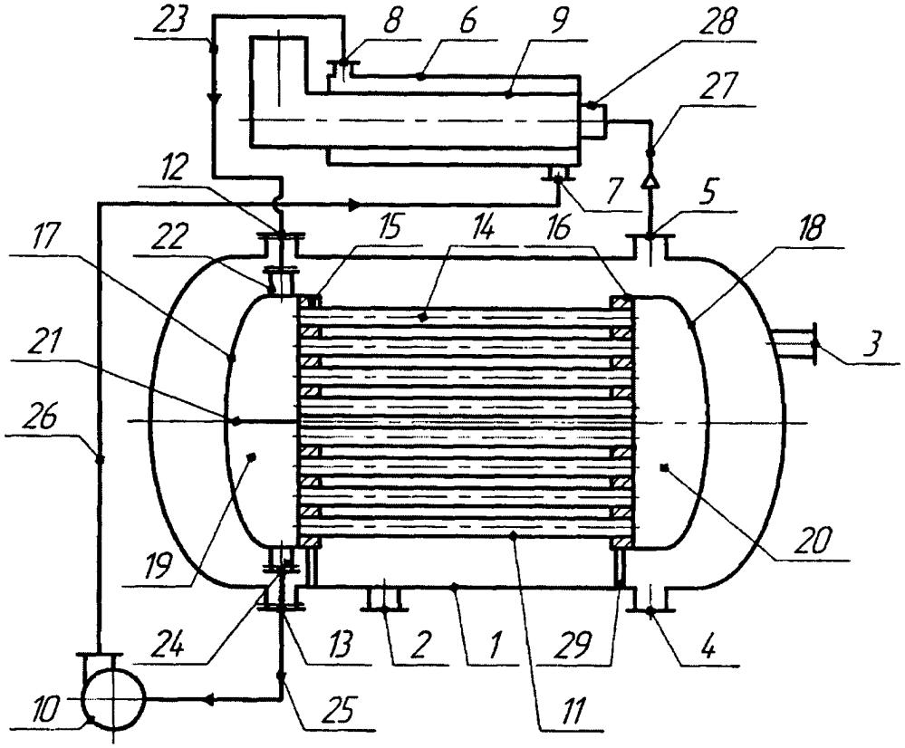 Установка для разделения и нагрева водонефтяной эмульсии