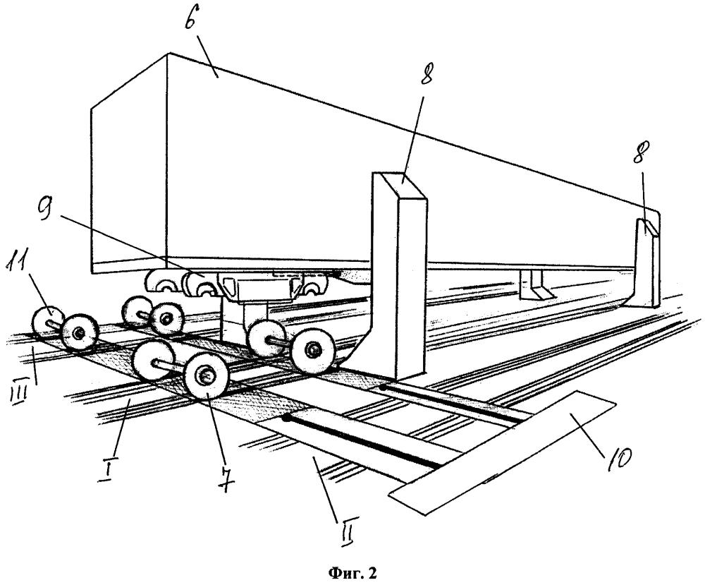 Способ замены колесных пар железнодорожного вагона (варианты)