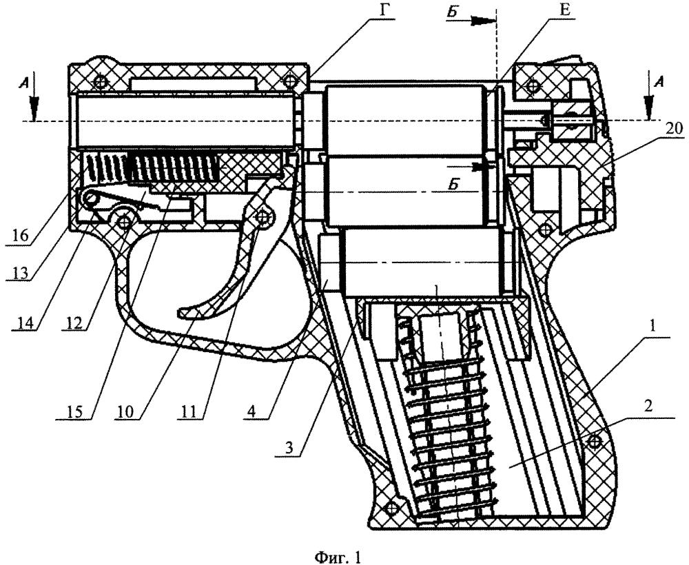 Стреляющее устройство с боеприпасами, имеющими проточку в гильзе