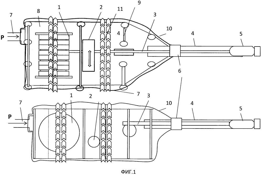 Устройство постановки и выборки гибкой протяженной буксируемой антенны