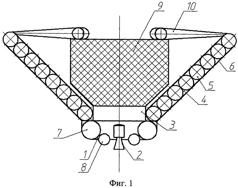 Спускаемый аппарат-буксир для снятия космических объектов с орбиты
