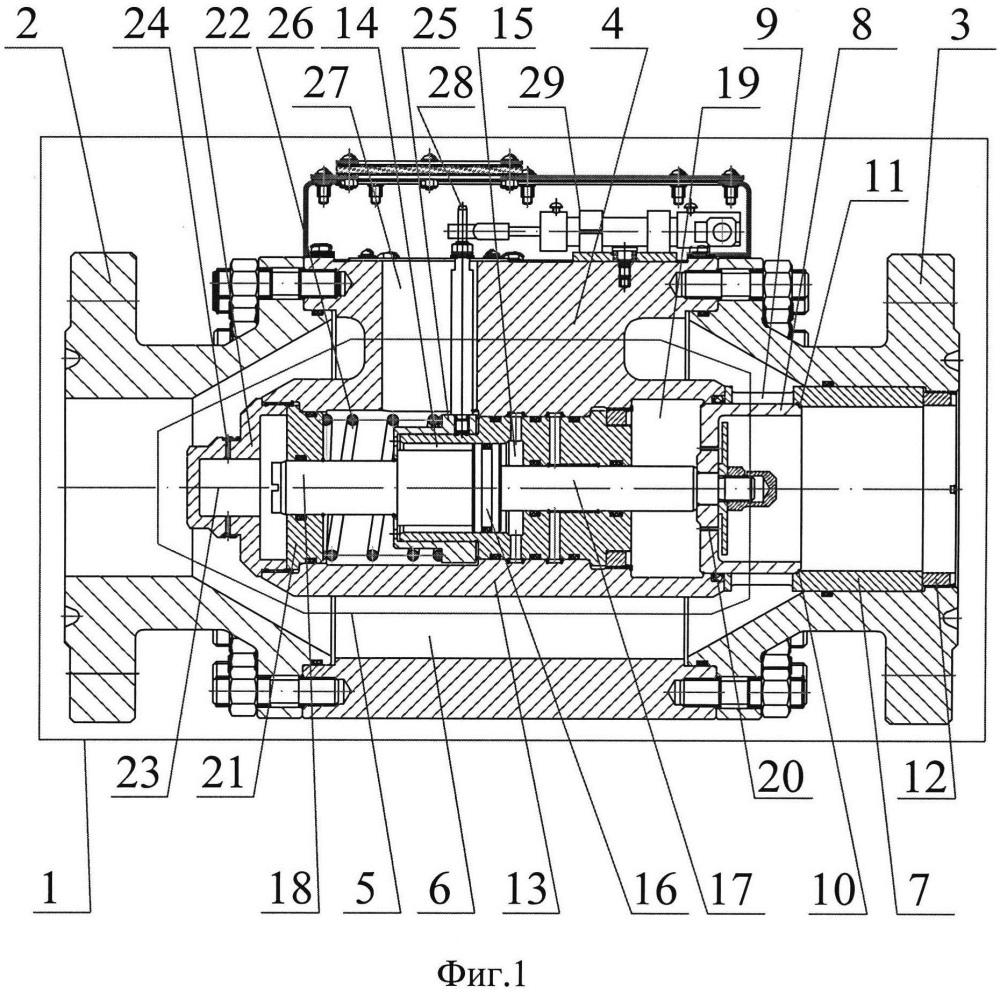 Клапан регулирующий прямоточный с гидроприводом