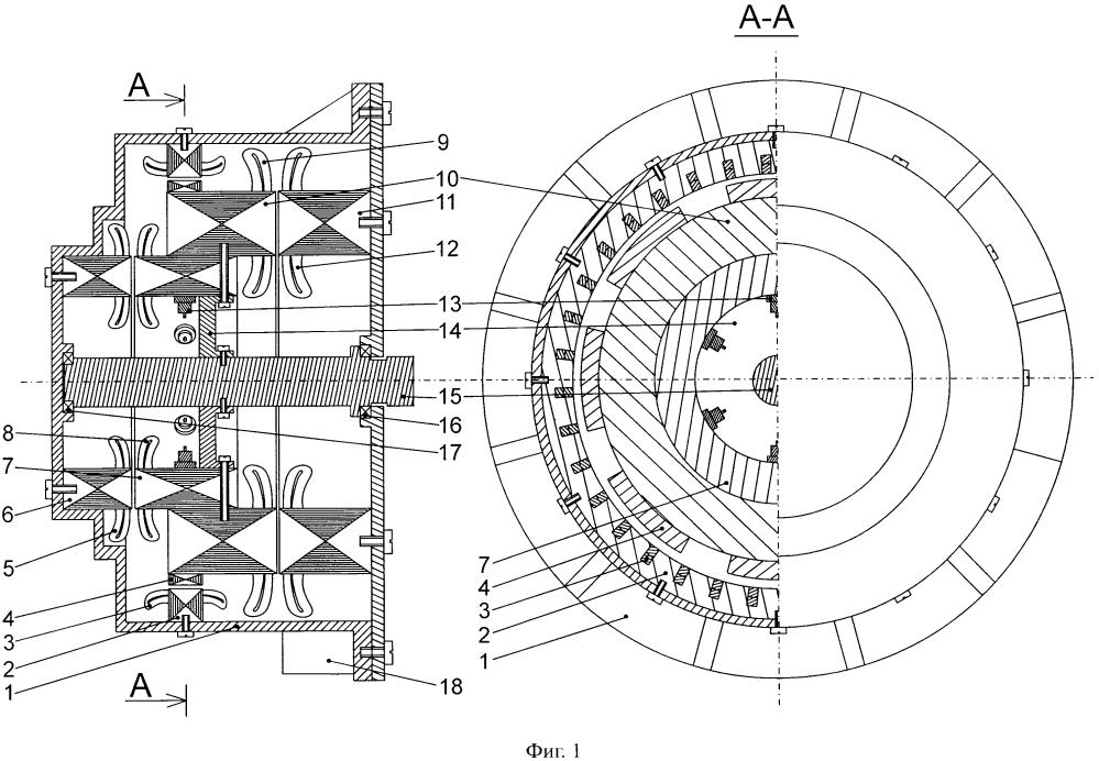 Аксиально-радиальный бесконтактный генератор переменного тока