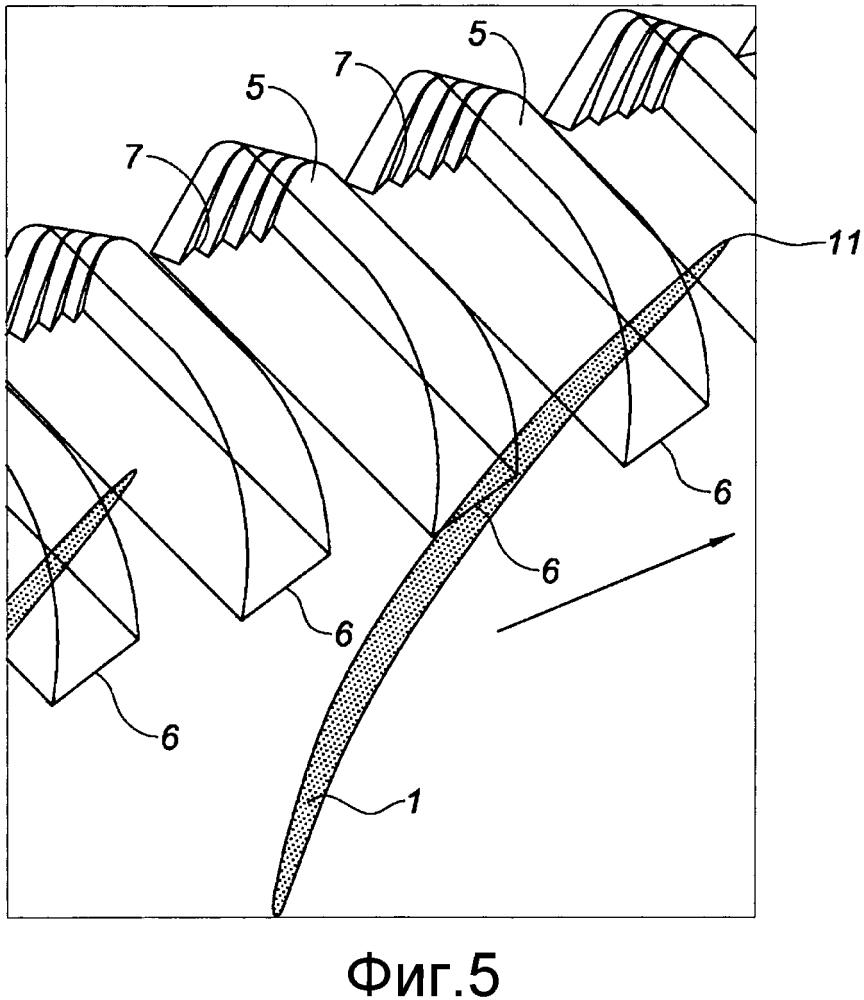 Корпус компрессора с полостями, имеющими оптимизированную выше по потоку форму