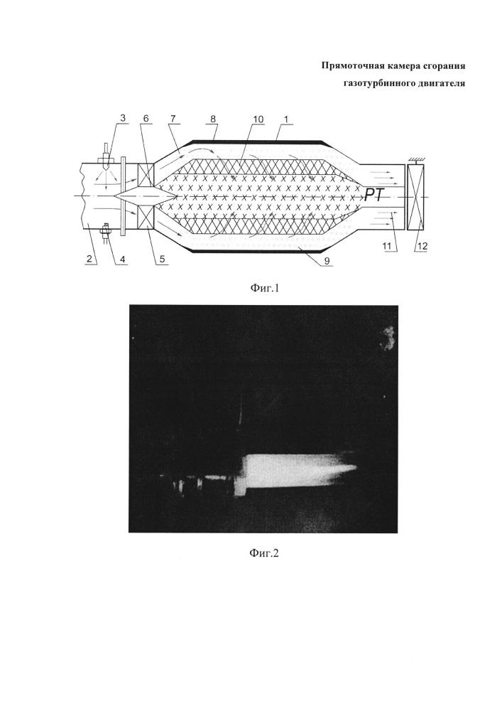 Прямоточная камера сгорания газотурбинного двигателя
