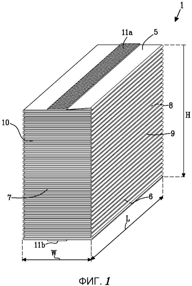 Стопка листового материала для гигиенических изделий