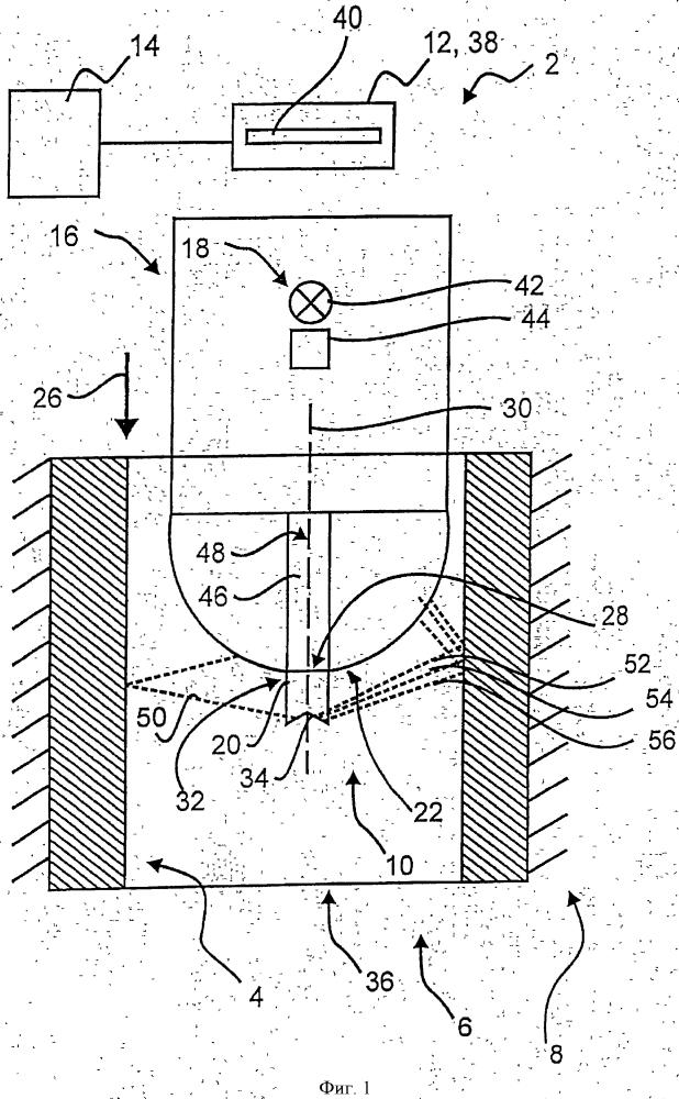 Устройство для отображения внутренней поверхности полого пространства в изделии