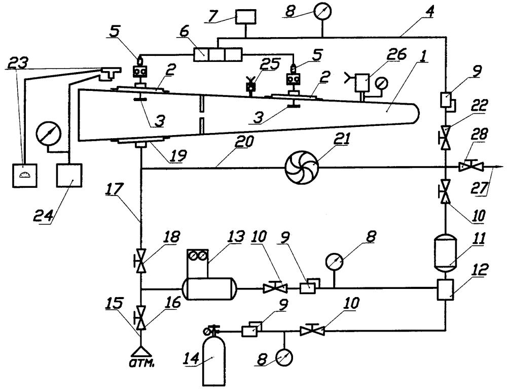 Способ контроля герметичности топливного бака самолета