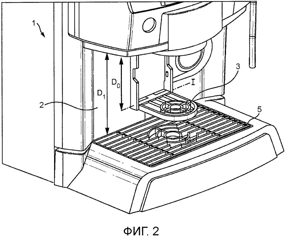 Дозатор с удерживающим приспособлением для емкостей различных размеров