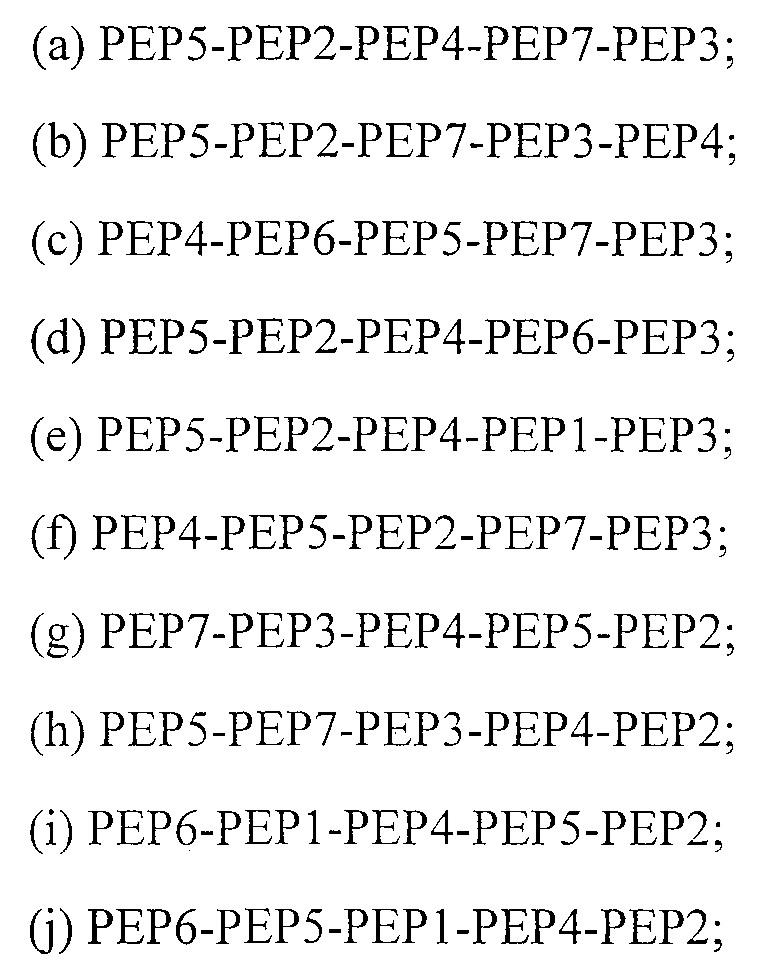 Новый пептид, имеющий 5 соединенных эпитопов ctl