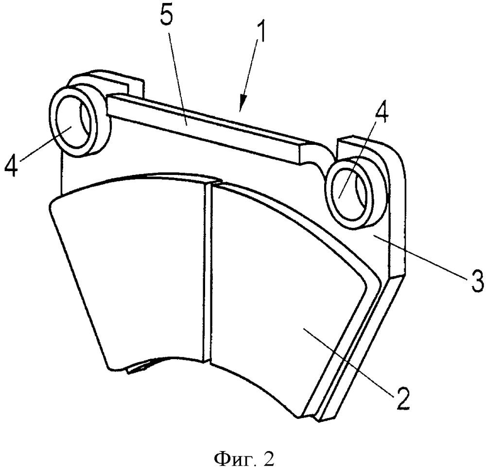 Тормозная накладка для приводимого в действие поршнем дискового тормоза рельсового транспортного средства или грузового автомобиля